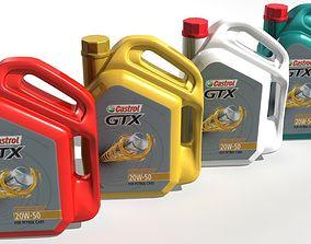 3D model Castrol GTX Engine Oil Jar