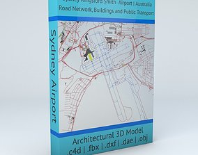 Sydney Kingsford Smith SYD Airport Roads 3D model 2