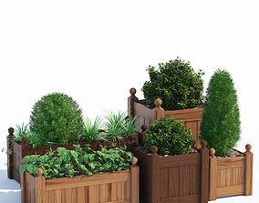 3D Timber wood planter