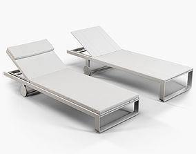 3D Gandia Blasco Flat chaise longue