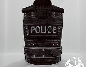 Game-Ready Police Tactical Combat Vest 3D asset