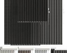 vertical blinds in 4 color 3D model