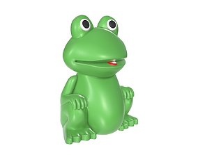 Green frog toy 3D