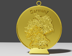 3D print model Germany Relief Map Decoration