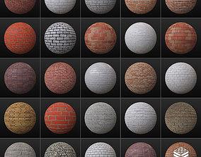 3D model 25 PBR Brick Textures 03