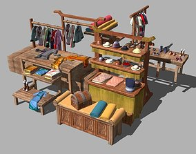 ancient chinese Draper 3D asset game-ready