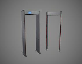 3D model Walk Throught Metal Detector PBR Game Ready