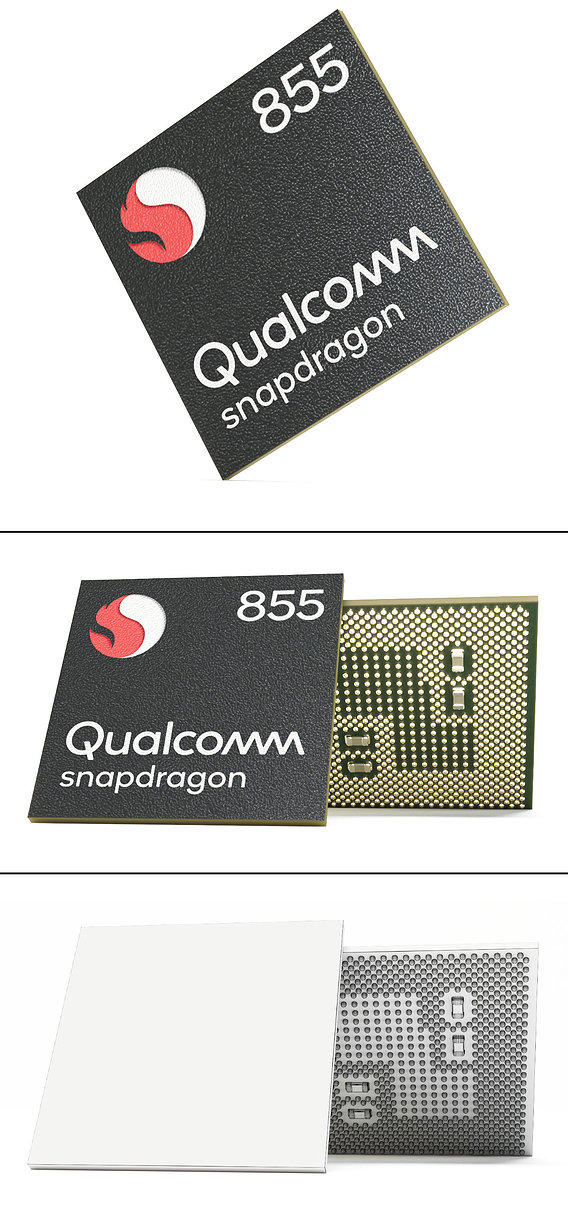 Photorealistic Mobile Chip - Snapdragon 855 3D model