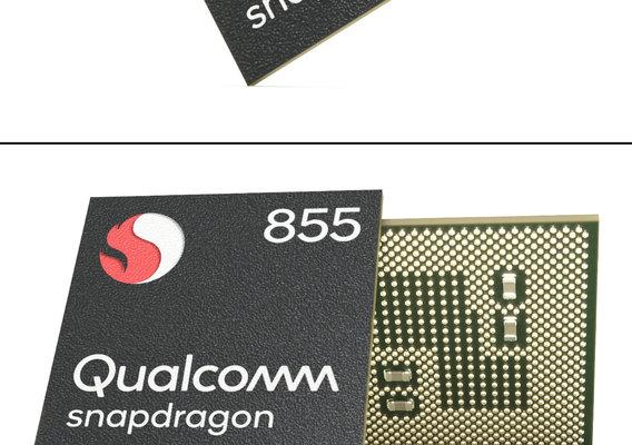 Photorealistic Mobile Chip - Snapdragon 855 3D model