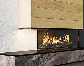 3D Fireplace modern 19