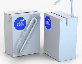 3D asset Beverage pack 200ml