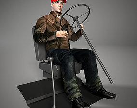 3D asset VR / AR ready Driver man