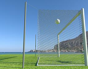 Soccer net animated 3D model