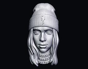 3D print model art Billie Eilish