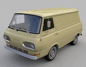 FOR-D ECONOLINE E100 SHORT VAN 1962 3D