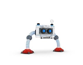 3D model Funny Robot Character