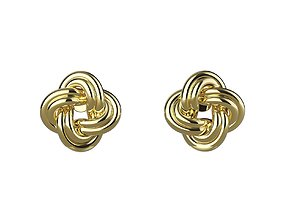 Stud A-System Earring Rope 3D print model