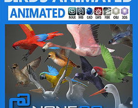 3D model Pack - Birds Animated