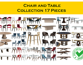 Table Chair Collection 3D