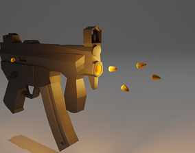 3D model MP5K for making Games and Animation