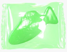 Wrapped Green Fish 3D model