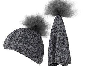Grey Knit Cap 3D