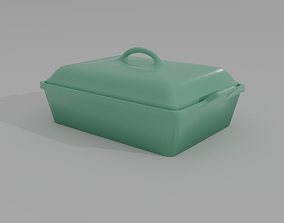 Casserole Dish with Lid 3D model