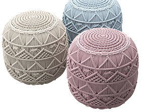 3D Knitted Pouf
