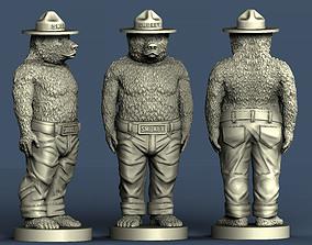 3d STL model for CNC Smokey the Bear