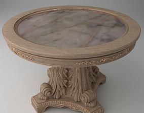 3D model Elegant Ornate Round table