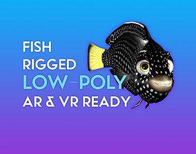 rigged 3D Cartoon Fish - Tamarin Wrasse