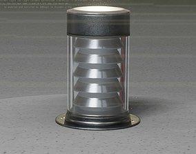 3D model Galvanized Light-Column -3- Street-Light 9