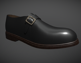 Monk Shoe 3D asset