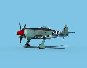 Hawker Sea Fury MKII V03 RN 3D