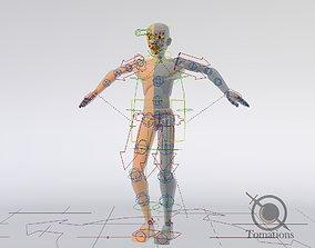 Blender Male Rigged Doll 3D asset VR / AR ready