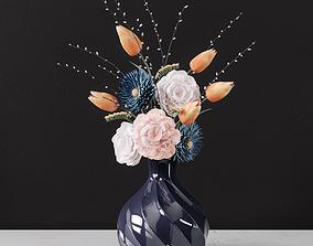 3D model Decor bouquet of flowers in a glass