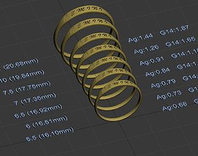 Gemini jewelry ring with carved 3D print model