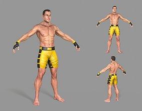 UFC Boxer 3D asset low-poly