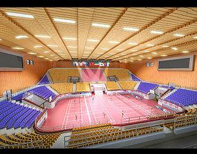 3D model Indoor badminton hall 001