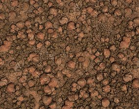 PBR seamless red rocky ground textures 3D asset