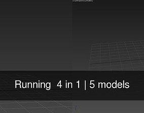 Running 4 in 1 3D model