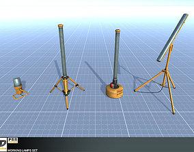 Working Lamps Set 3D asset