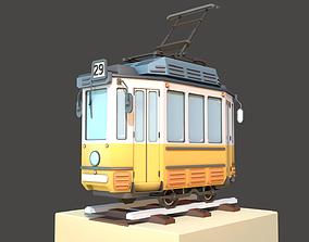 3D asset Old Tram Budapest