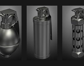 grenades set 3D