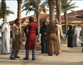 3D model low-poly Arab People