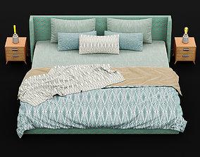 3D Modern bed 16