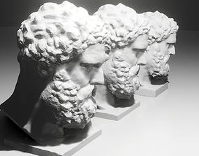 Heracles Head Sculpture 3D print model realtime