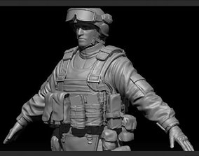 High res Soldier Model 1 3D