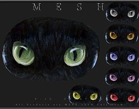 Cat Stones - 7 Eye Colors 3D model