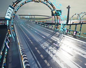 Modular Sci-fi Road 3D model